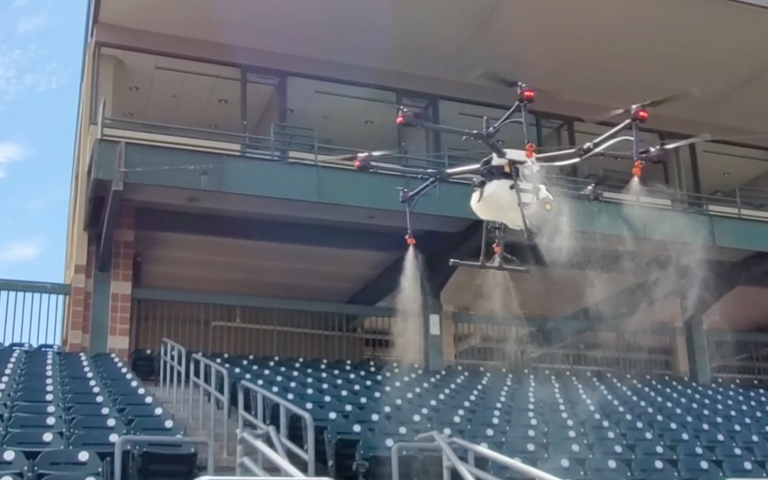 Clay & Milk: Rantizo is using drone technology to sanitize stadiums