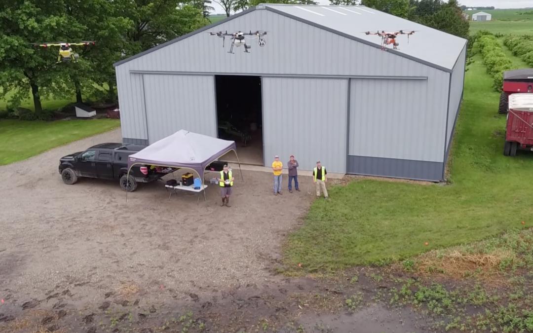 Rantizo ag spraying drones swarming in field