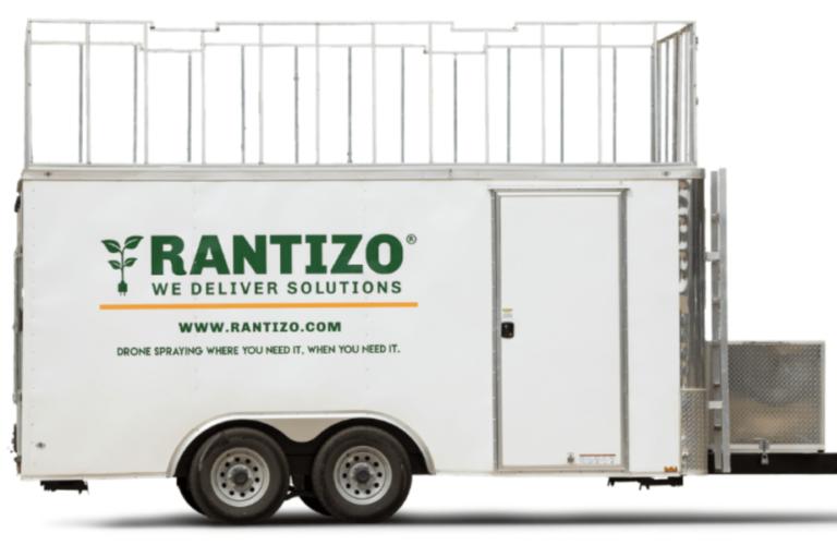 Rantizo Load & Go trailer for drone spraying
