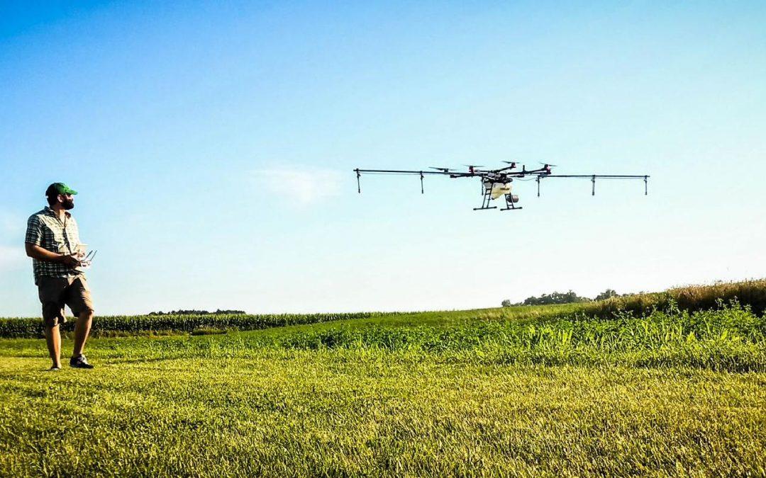 Rantizo custom drone application in a field