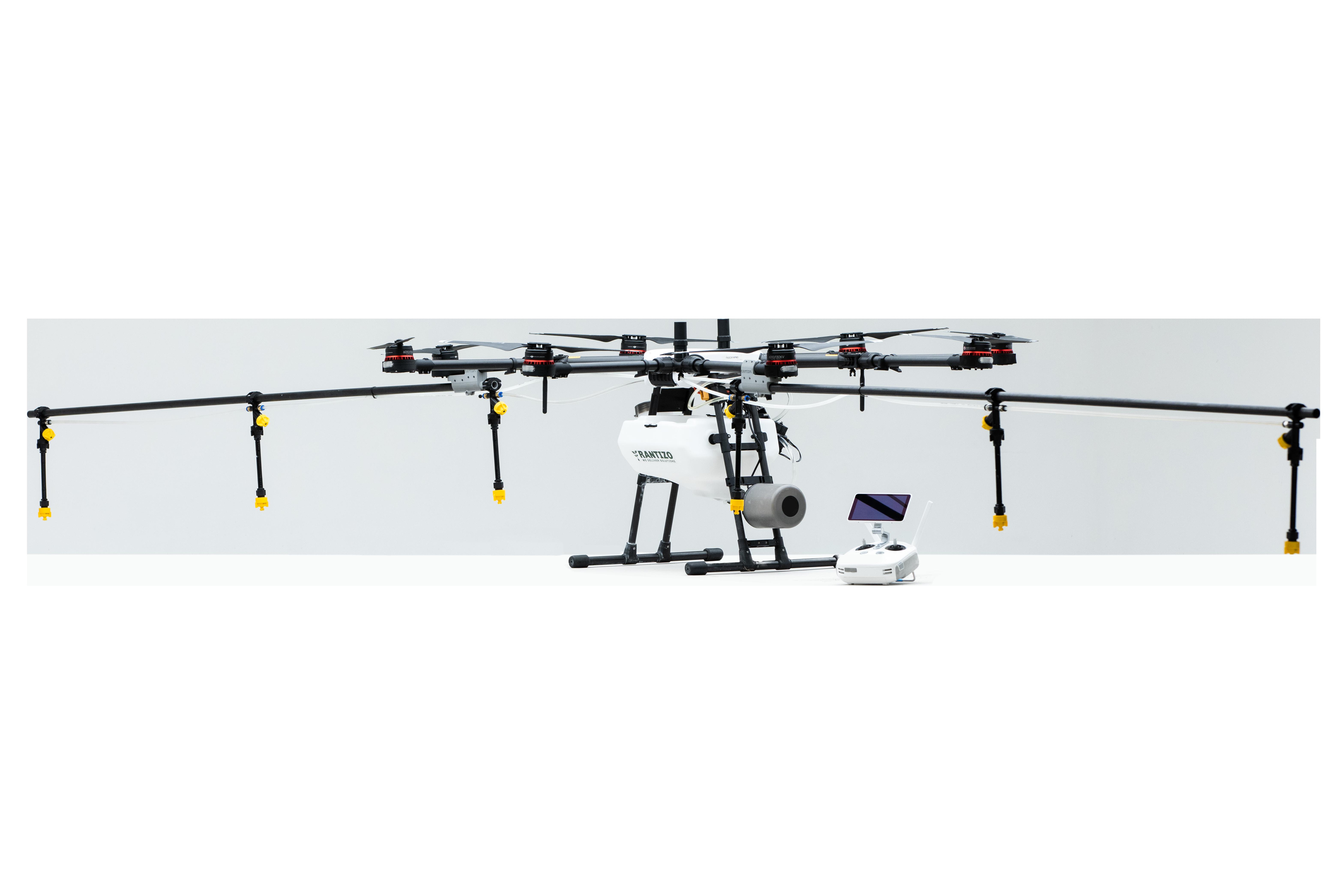 DJI Agras MG-1P agricultural drone sprayer with Rantizo upgrade kit