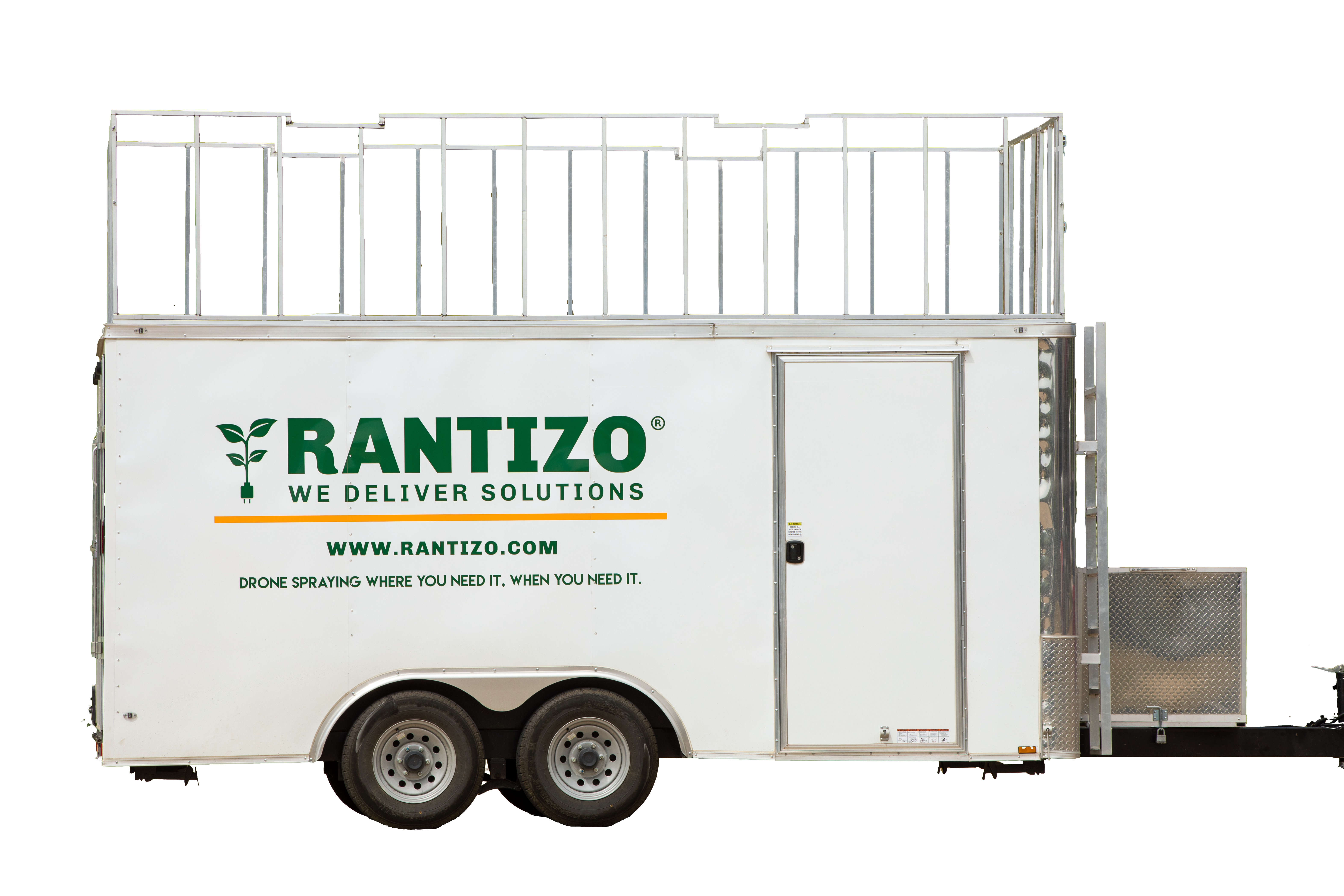 Load & Go trailer for agricultural drone sprayers