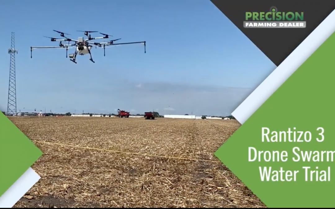 Rantizo demonstrates 3 drone swarm at Farm Progress Show