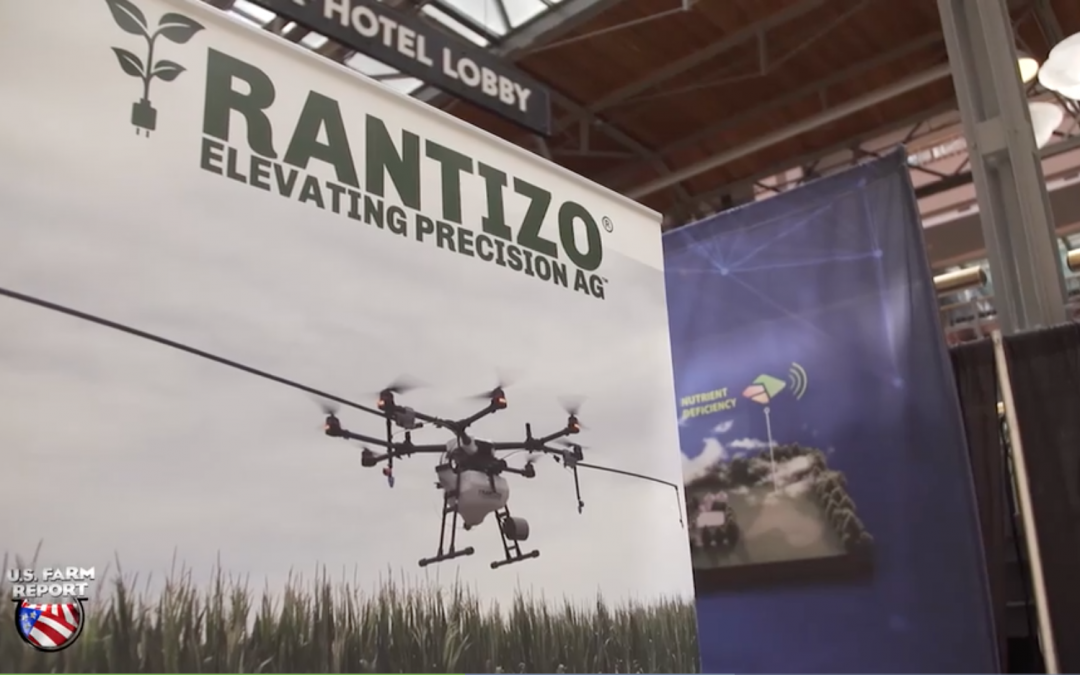 Rantizo showcasing it's drone custom application technology at an ag industry show
